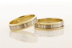 两只金戒指 免版税库存图片