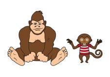 两只猴子传染媒介 免版税库存照片