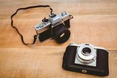 两台老照相机看法  库存图片