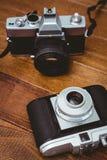 两台老照相机看法  图库摄影