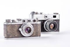 两台过时影片照相机 免版税图库摄影