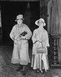 两名中部年迈的妇女画象(所有人被描述不更长生存,并且庄园不存在 供应商保单ther 免版税图库摄影