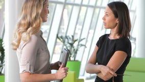 两名女实业家谈论文件在办公室 股票视频