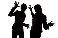 两名妇女跳舞 免版税图库摄影