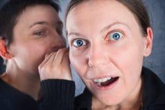 两名妇女说闲话 图库摄影