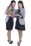 两名美好女实业家工作 免版税库存图片
