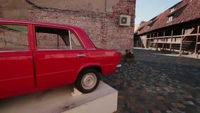 两后侧方苏联汽车VAZ-2101 影视素材