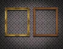 两在墙壁上的画框 免版税库存图片