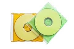 两在箱子的CD 免版税库存图片