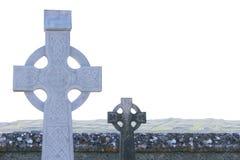 两块凯尔特墓石 免版税库存照片