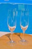 两块干净的玻璃 免版税库存照片