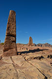 两块方尖碑, Petra 图库摄影