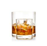 两块玻璃威士忌酒 库存照片