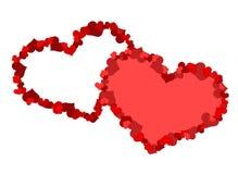 两大心脏由一点心脏做成 库存图片