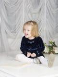 两岁的孩子画象  图库摄影