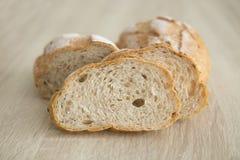 两布朗切的有壳的法国面包 库存图片