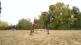 两年轻女人骑马 股票视频