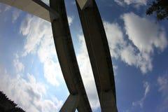 两座平行的桥梁 库存图片