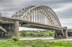 两座曲拱桥梁在奈梅亨 库存图片