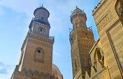 两座石尖塔 库存照片