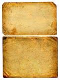 两张葡萄酒纸 免版税库存照片