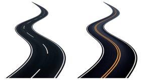 两弯曲道路 图库摄影