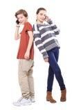两微笑的少年 免版税库存图片