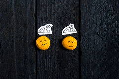 两微笑面孔 库存照片