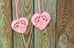 两心脏作为爱的标志 免版税图库摄影