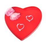 两心脏和两朵花 免版税图库摄影