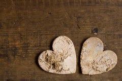 两心脏和拷贝空间 库存图片