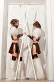 两性感的女性卫兵 免版税图库摄影