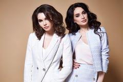 两性感的美丽的妇女企业夫人俏丽的面孔构成黑暗的l 免版税库存图片