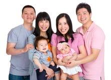 两愉快的家庭 免版税库存图片