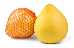 两成熟柚果子 免版税库存照片
