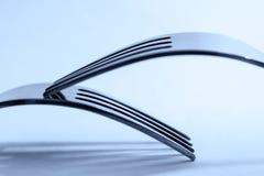 两把叉子在和谐中 免版税库存照片