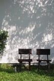 两把木材椅子 免版税图库摄影