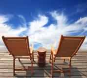 两把木椅子 免版税图库摄影