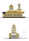 两投射的教会 库存例证