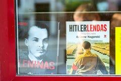两本史书关于列宁和希特勒 免版税库存图片