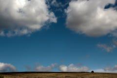 两朵云彩-一种美妙的心情 库存照片
