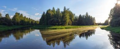 两条小河的合流 免版税库存照片