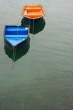 两条小船 免版税库存照片