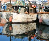 两条工业捕鱼小船 免版税图库摄影