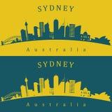 两条悉尼地平线 库存图片