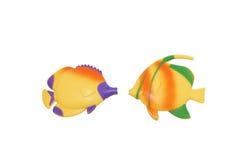两条玩具鱼 免版税库存图片