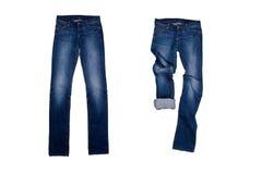 两条蓝色牛仔裤 免版税图库摄影