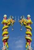 两条龙雕象  免版税图库摄影
