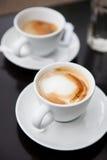 两杯咖啡 免版税库存照片