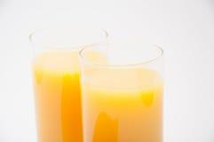两杯汁液 库存图片
